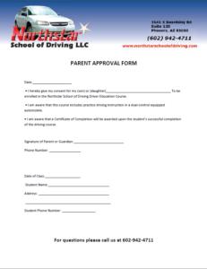 Parent Approval Form